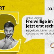 """Grafik zum Online-Seminar """"Rechtlich korrekt – Hygieneschutz, Kontaktnachverfolgung, Haftungsfragen & Co."""""""