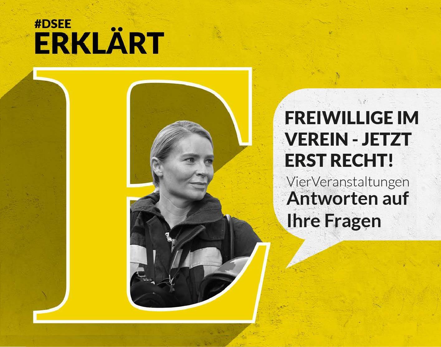 """Grafik der online-Seminarreihe """"Freiwillige im Verein - jetzt erst recht!"""""""
